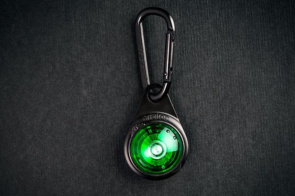Orbiloc Outdoor Dual Safety Light - Carabiner - Green