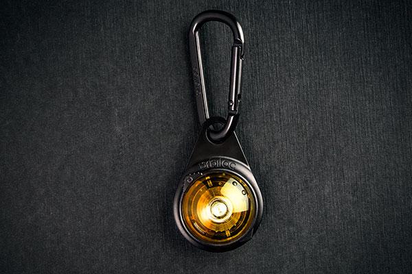 Orbiloc Outdoor Dual Safety Light - Carabiner - Yellow