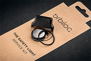 Orbiloc Service Kit includes a battery pack, o-ring and service tool